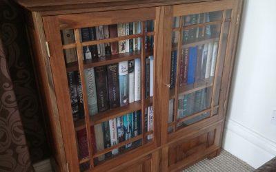 English Walnut Bookcase